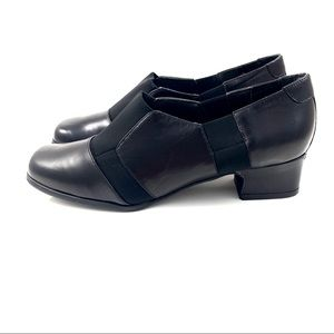 VTG ROS HOMMERSON black leather + nylon loafers